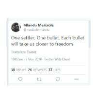 Anti-White Hate at UCT & Black UCT Student, Mlandu Masixole, Praised for White Genocidal Slogan in Thesis Paper.