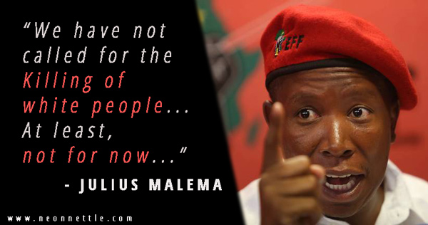 """SAHRC Says Malema's """"Slaughter"""" White People Comments Not Hate Speech [My  Reflections] – Bishop's Encyclopedia of Religion, Society and Philosophy"""